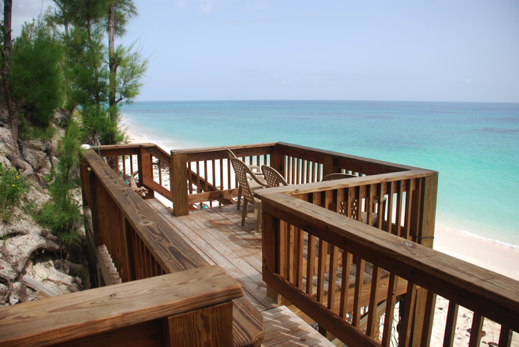 Deck Overlooking Beach Staircase To The Atlantic